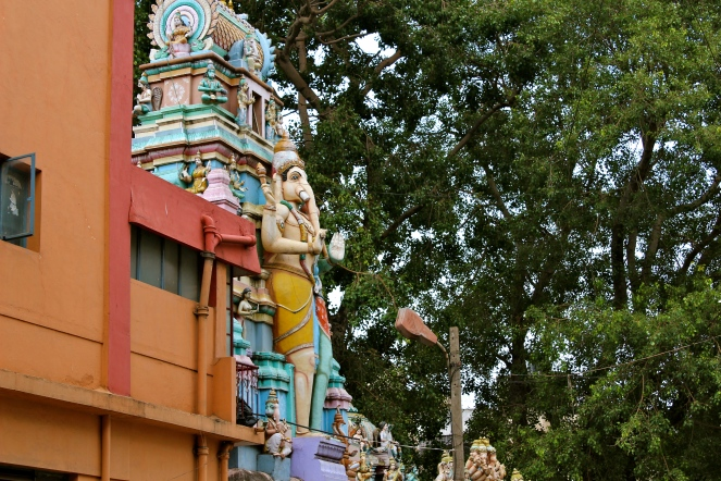 This is a statue of Ganesh. He is one of the principle gods worshipped in Bangalore, although most Hindus will tell you that they worship all gods; Hindu, Muslim, or Christian.