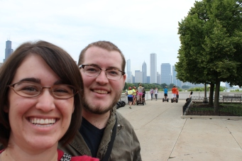 We had a great view of the city while we waited in line.
