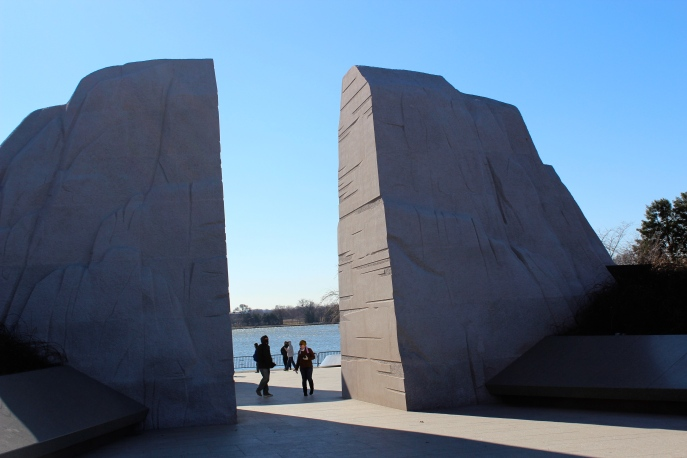 The entrance to the MLK Memorial