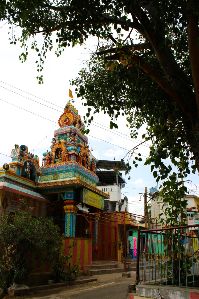 A nearby Hindu temple
