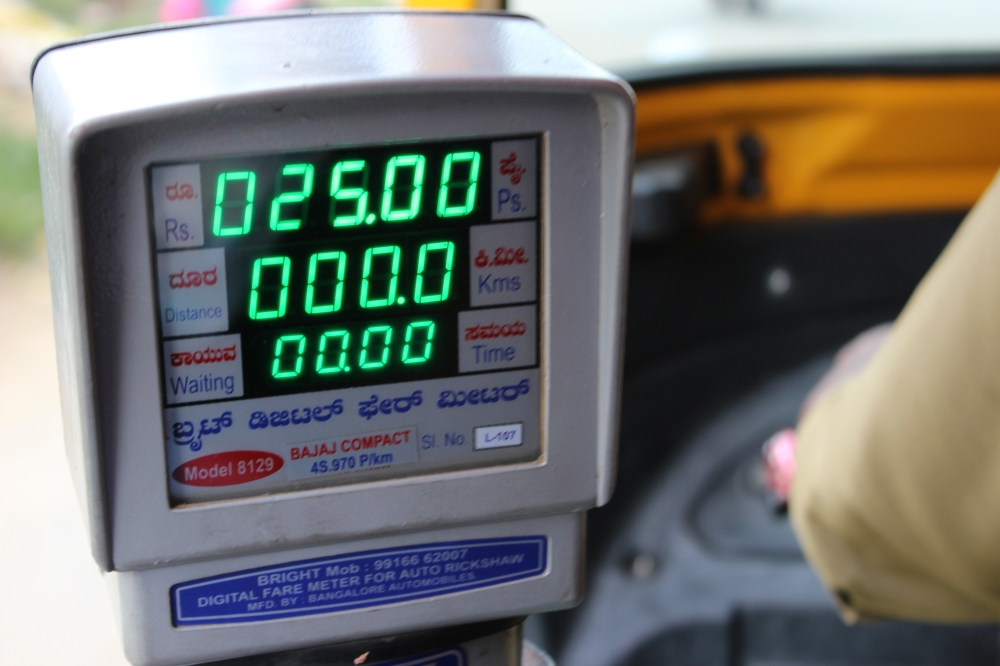 "We've learned out to say ""meter only"" so rickshaw drivers will give us a fair price. Meter starts at 25 rupees (about $.41)."