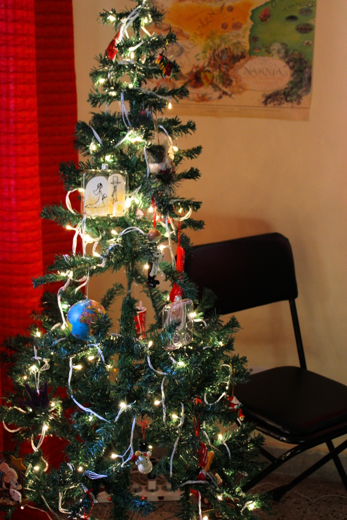 It's a bit of a Charlie Brown Christmas tree, but we love it none the less!
