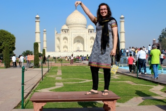 """Had to get a """"classic"""" Taj Mahal picture!"""
