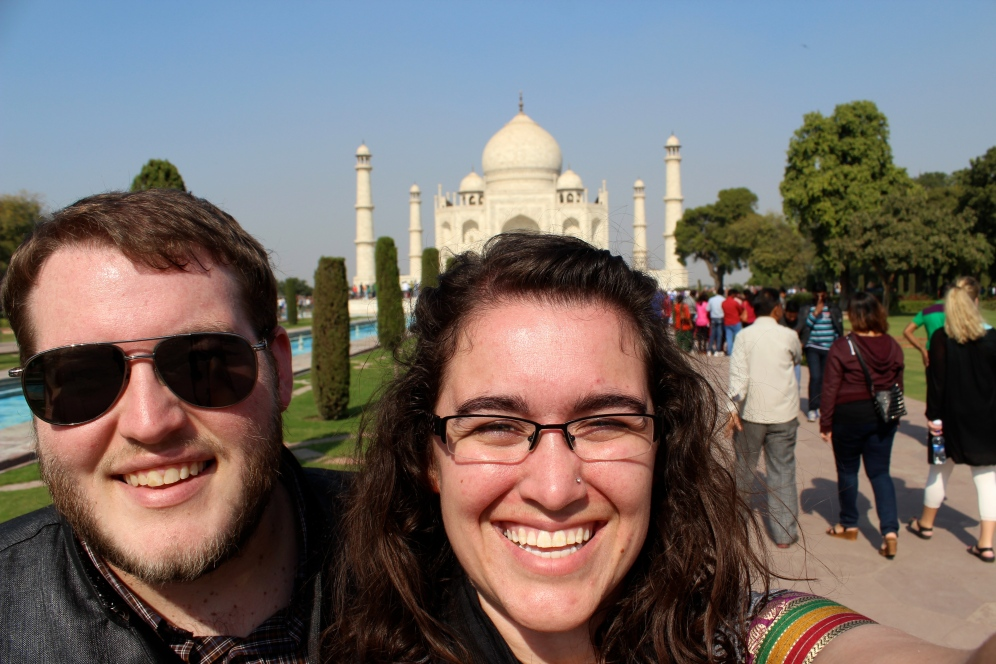 You can't expect us to go to the Taj and not take a selfie!