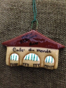 From Ben Venable - My brother LOVES New Orleans, so an ornament of Cafe du Monde was a perfect fit for him!