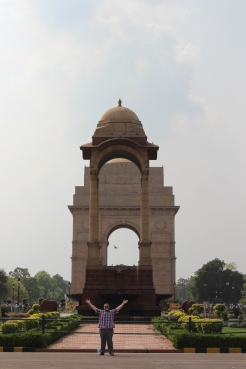 Adam at India Gate in the heart of New Delhi