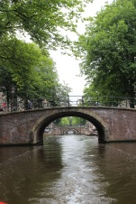 We took a boat tour of the canals. From this point we could see 7 of Amsterdam's bridges.